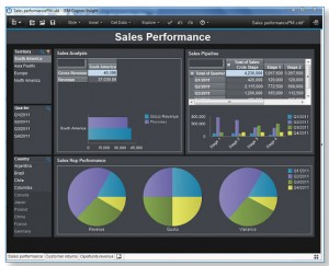 Examples of Business Analytics Dashboard from NES and IBM